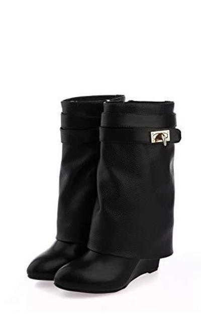 Metal Shark-Lock Boots