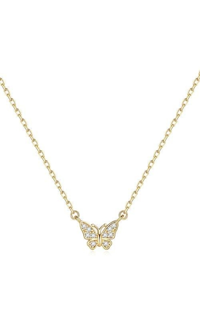 Turandoss Gold Butterfly Necklace