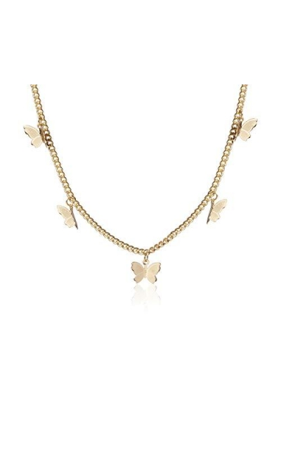 Kercisbeauty Gold Butterfly Necklace