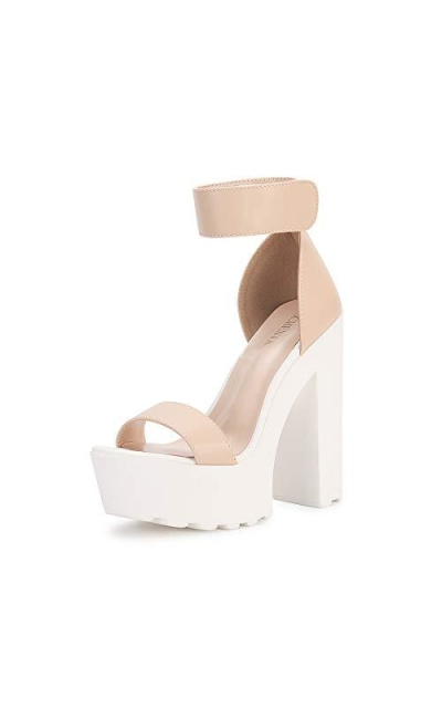 OCHENTA Platform Lug Sole Chunky High Heel Sandals