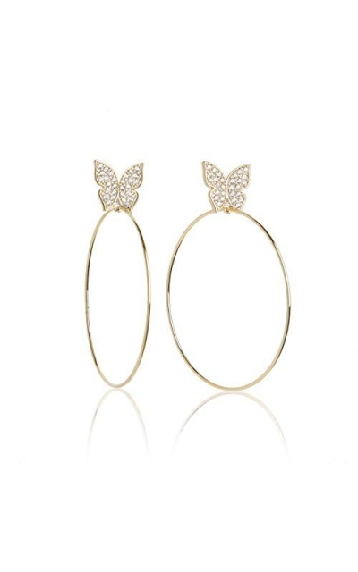 BX Glow by Evelyn Lozada Signature Butterfly Hoop Earrings