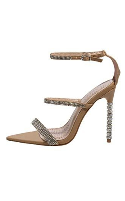 Azalea Wang Sparkle Diamond Rhinestone Sandals