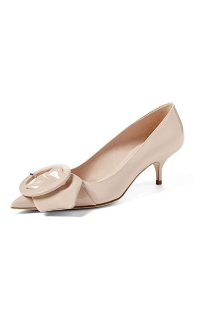 YDN Low Kitten Heel Pumps
