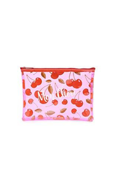 SunnyLife Cherry See Thru Pouch, Red/Pink, One Size