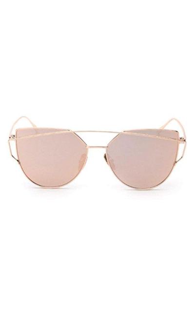 fab1800732 QingFan Cat Eye Mirrored Sunglasses