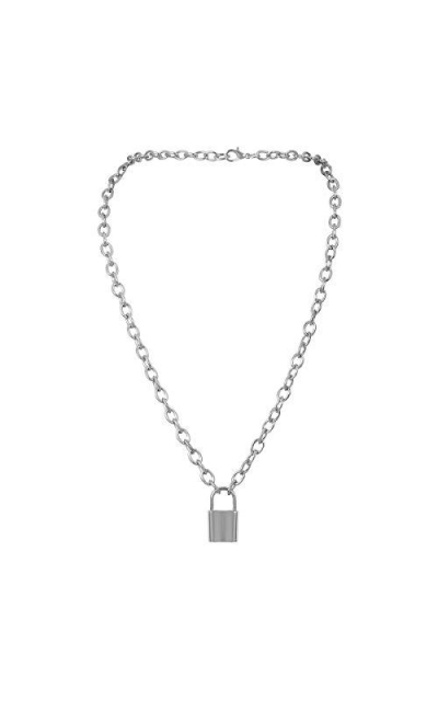 7th Moon Lock Pendant Necklace