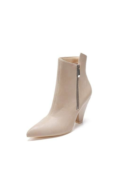 MACKIN J Pointed Toe Faux Leather Ankle Booties
