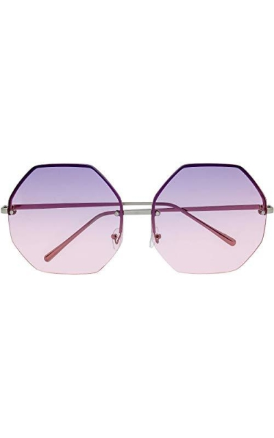 The Fresh Fashion Designer Oversize Hexagon Sunglasses