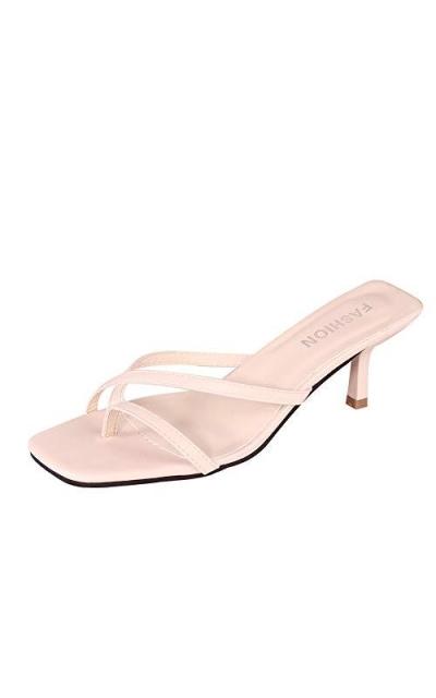 HTTEM Kitten Heel Flip Flops Sandals