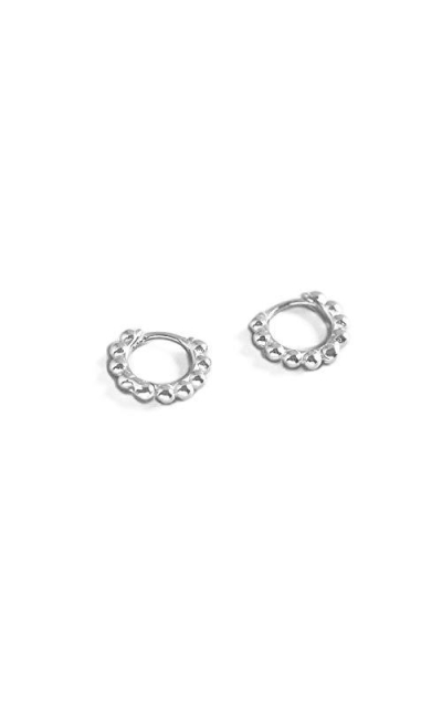 Minimalist Ball Bead Small Hoop Earrings