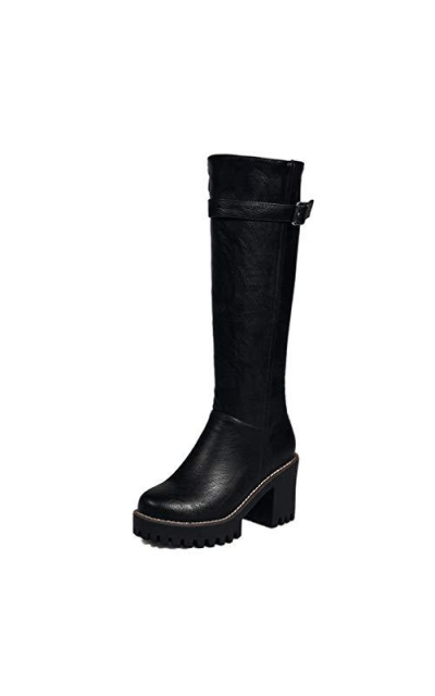 CYBLING Knee High Calf Biker Boots