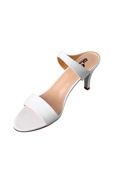 4HOW Slip On Heeled Sandals