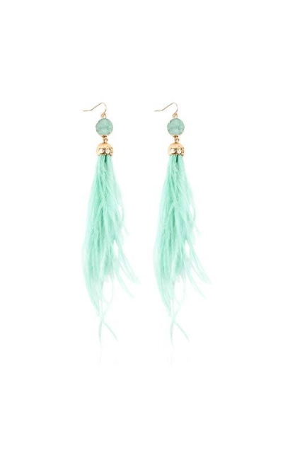 Sparkly Acrylic Feather Earrings
