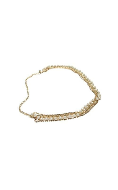 Deal Fashionista Pearls Chain Belt