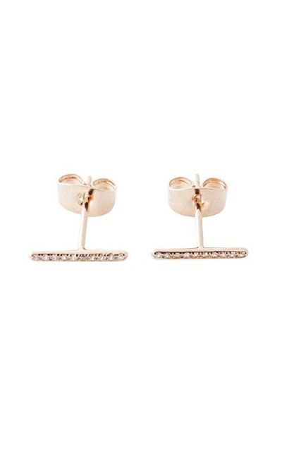 HONEYCAT Skinny Midi Crystal Wire Bar Stud Earrings