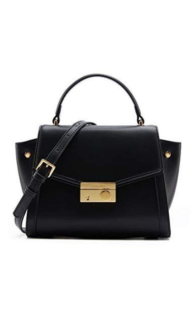 Top Handle Leather Handbag