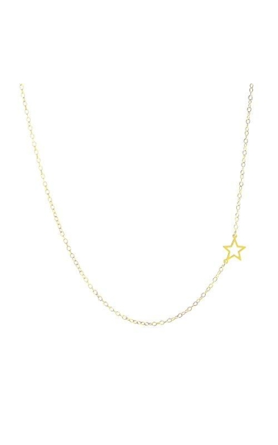 Deidreamers Sterling Silver Mini Side Star Necklace