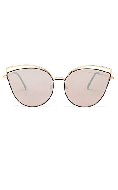 EVEE Oversize Double Wire Cat-Eye Sunglasses