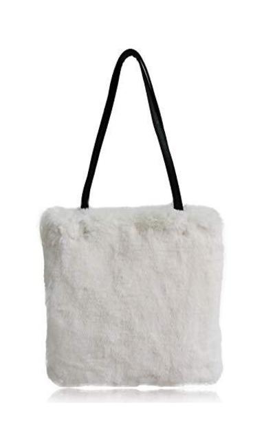 FHQHTH Faux Fur Tote Bag
