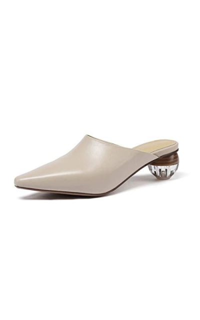 Pointed Toe Crystal Mules