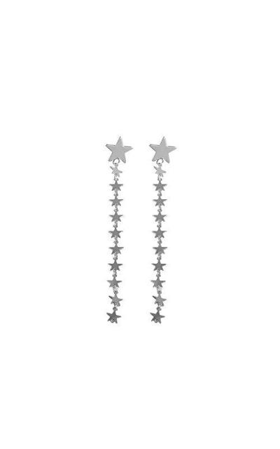 DOFE Alloy Star Silver Tassel Earring
