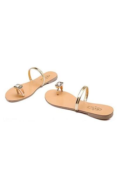 Toe Ring Crystal Rhinestone Sandals