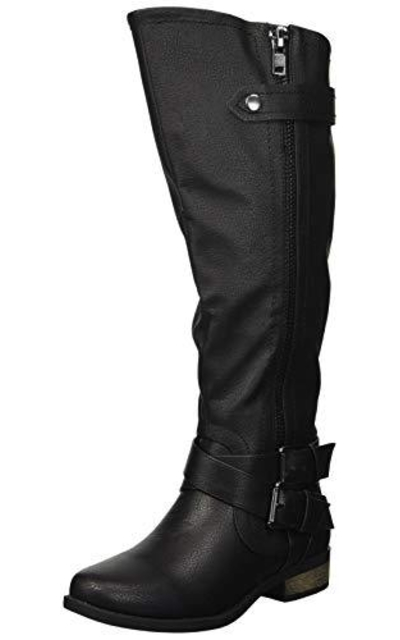 Rampage Hansel Zipper and Buckle Knee-High Riding Boot