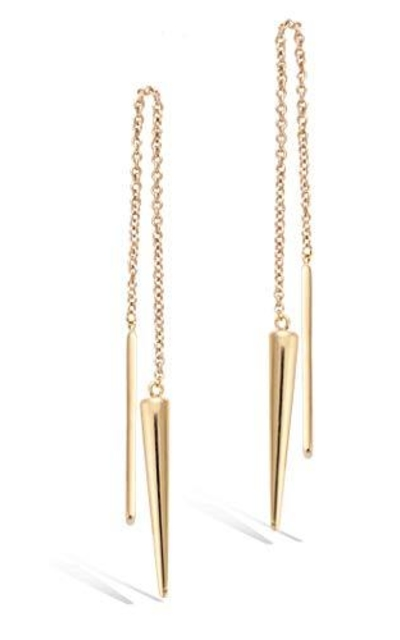Agvana Yellow Gold Filled Bar&Taper Threader Earrings