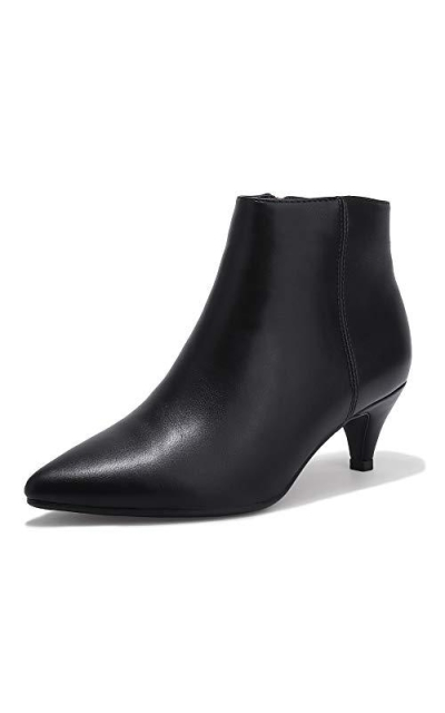 IDIFU Kiki Dress Pointed Toe Ankle Booties