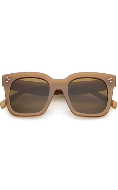 zeroUV Oversize Tinted Flat Lens Square Sunglasses