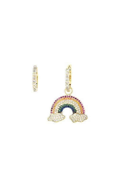 Asymmetrical Rainbow Earrings