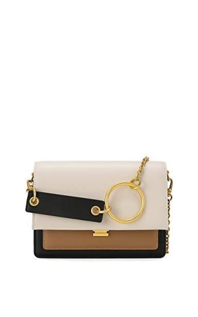 LA FESTIN Color Block Leather Crossbody Bag