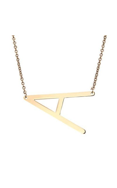 RINHOO Gold Initial Alphabet Necklace