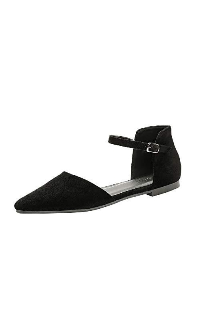Meeshine D'Orsay Pointy Toe Ballet Flat
