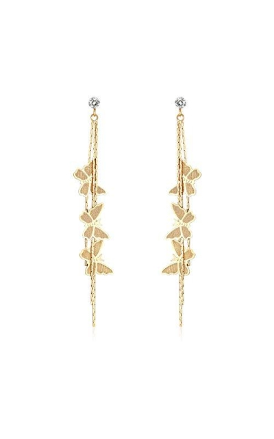 Orris  Butterfly Design Dangle Drop Earrings