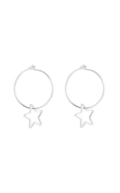 Wire Hoop Star Lucky Dangle Drop Earrings