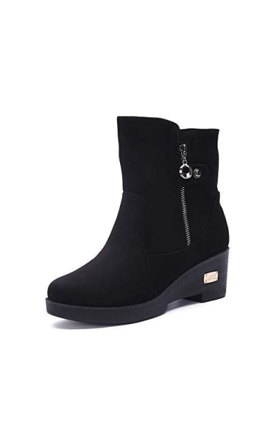 Jinouyy Warm Fur Lined Ankle Boots