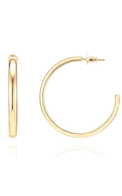 PAVOI 14K Yellow Gold Plated Hoop Earrings