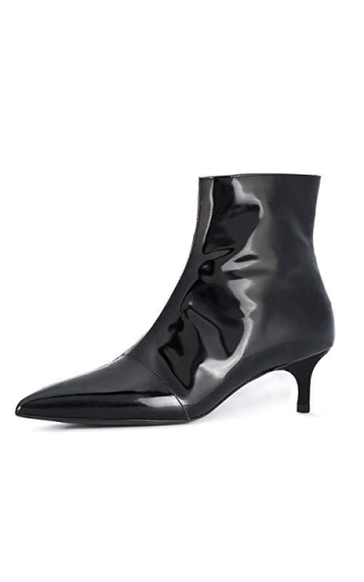 YDN Pointy Toe Kitten Ankle Booties
