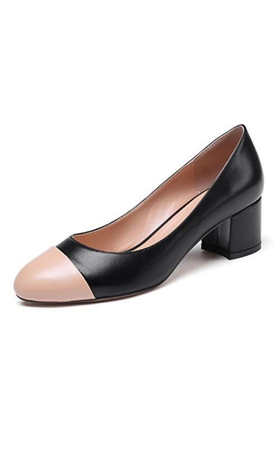 Eldof Round Cap Toe Pumps
