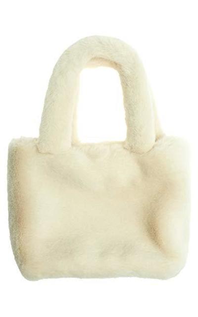 AnnaKastle Soft Eco Fur Fluffy Mini Tote Bag