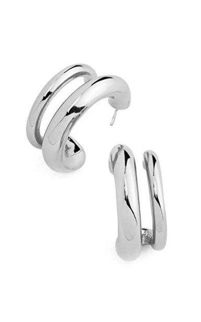 EARLLER Thick Double Chunky Open Hoops
