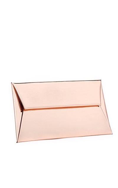 BYSUMMER MARKFRAN Metallic Envelope Clutch