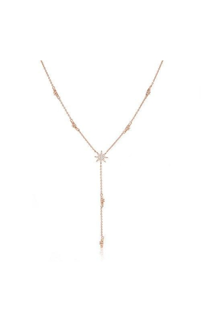 espere Star Drop Y Shaped Lariat Necklace