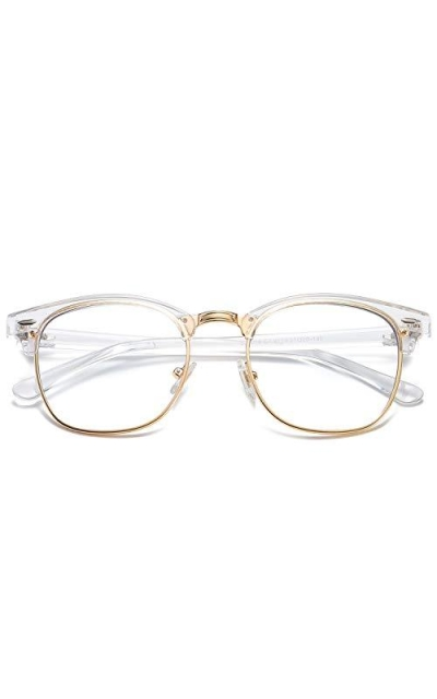SOJOS Semi Rimless Blue Light Blocking Glasses