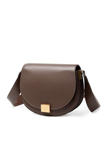 VISHARK Genuine D-Shape Crossbody Saddle Bag