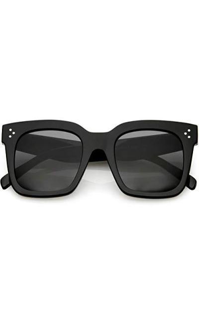 zeroUV - Bold Flat Lens Oversized Square Frame Sunglasses