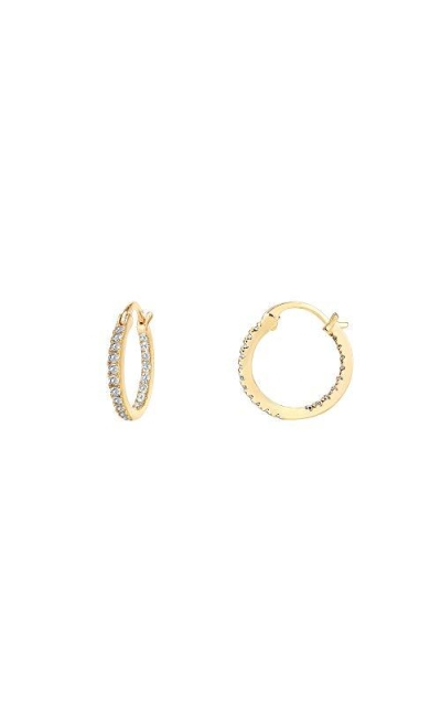 PAVOI 14K  Hoop Earrings
