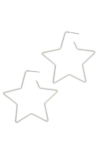And Lovely Rhodium Dipped Star Earring