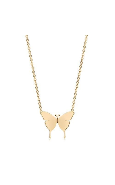 Mevecco Gold Butterfly Pendant Necklace